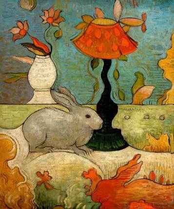 Mark Briscoe bunny_rabbit_surreal_painting_in_oil_panel