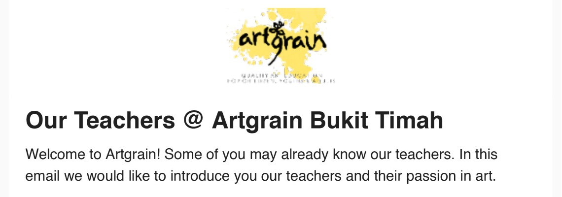 Test Artgrain Bukit Timah Teachers